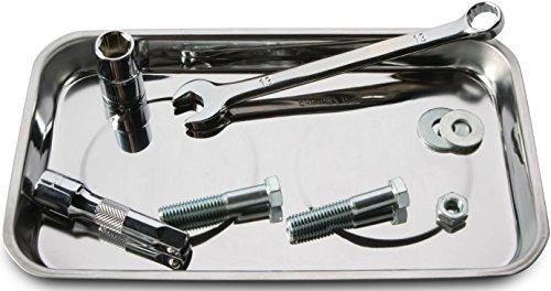 Tool Rectangle Magnetic Parts Tray Auto Automotive Box Socket Nuts Bolt