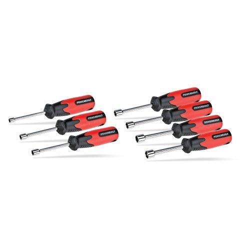 Powerbuilt 646042 Double Injection Metric Nut Driver Set 7 Piece 6 - 12mm