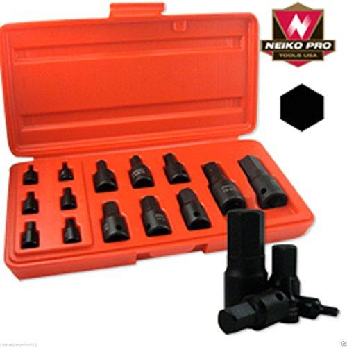14 Piece SAE Impact HEX Socket Set