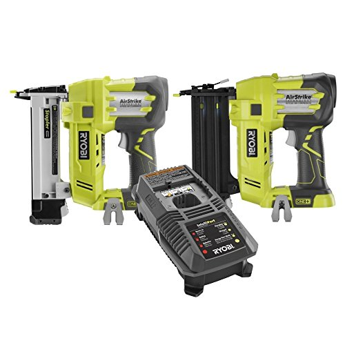 Ryobi P320 and P360 Kit 18-Volt One 18-Gauge Cordless 2 in Brad Nailer and Crown Stapler ZRP320 ZRP360 With P118 Charger Certified Refurbished