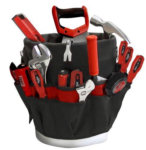 Task Tools T78525 Nylon Bucket Buddy Tool Organizer 27 Pockets