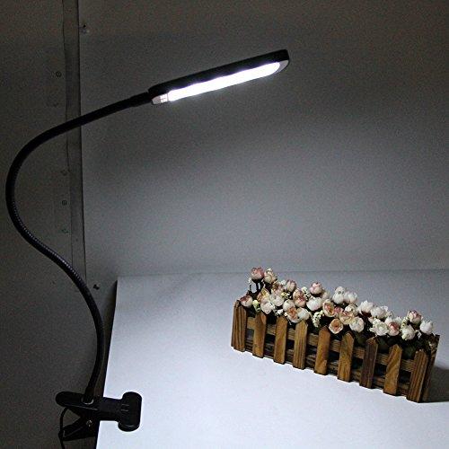IMINOVO LED USB Clip Desk Lamp It Can Clip at Everywhere LEDs Eye Care Portable Flexible No GhostingNo GlaringNo Flickering Gooseneck Tube Clamp Desk Table Piano Book Reading Study Relaxation