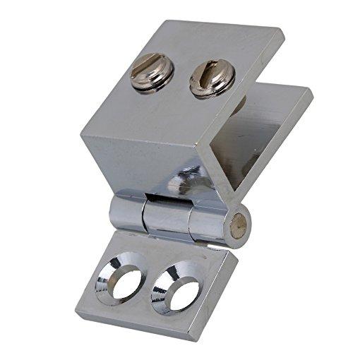 WEONE 90 Degree Silver Glass Door Metal Shower Bathroom Door Hinge Clamps