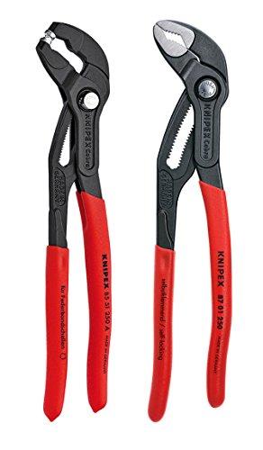 Knipex Tools 9K 00 80 104 US 10 Cobra and Hose Clamp Pliers Set 2 Piece