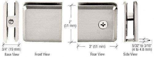 CRL Polished Nickel Beveled Style Hole-in-Glass Fixed Panel U-Clamp