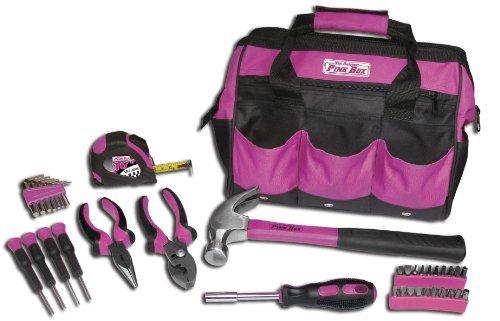 The Original Pink Box PB30TBK 30-Piece Tool Set w 12-Inch Tool Bag Pink by The Original Pink Box