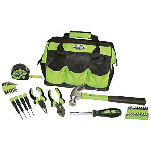 Viper Tool Storage V30TBKLG 30-Piece Tool Set w 12-Inch Tool Bag Lime Green by Viper Tool Storage