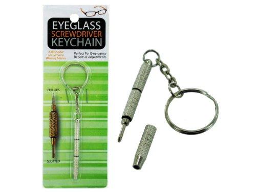 bulk buys MT267 Eyeglass Screwdriver Key Chain Silver
