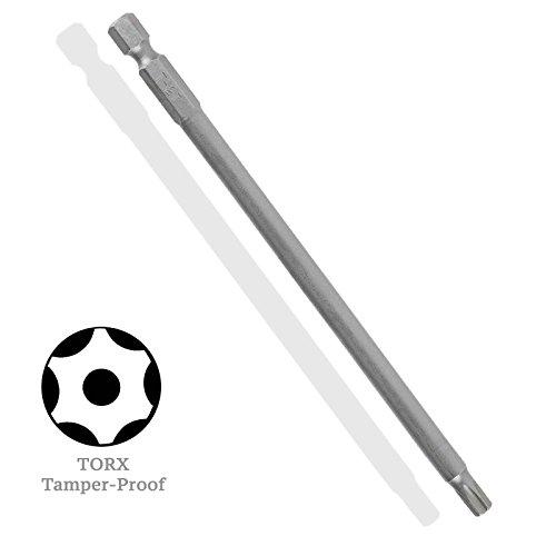 X-Long 6-inch TORX Star Tamper-Proof S2 Steel Driver Bit - TT-27