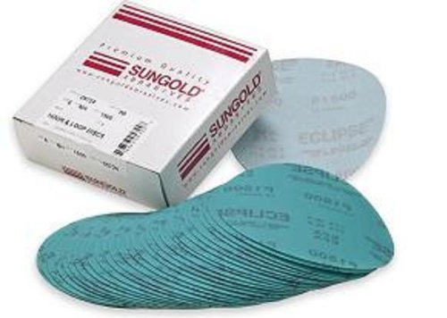 Sungold Abrasives 74683 6-Inch x No Hole Eclipse Film Hook and Grits 5 Each of 800 1200 1500 and 2000 Loop Sanding Discs Assorted Fine 20-Piece