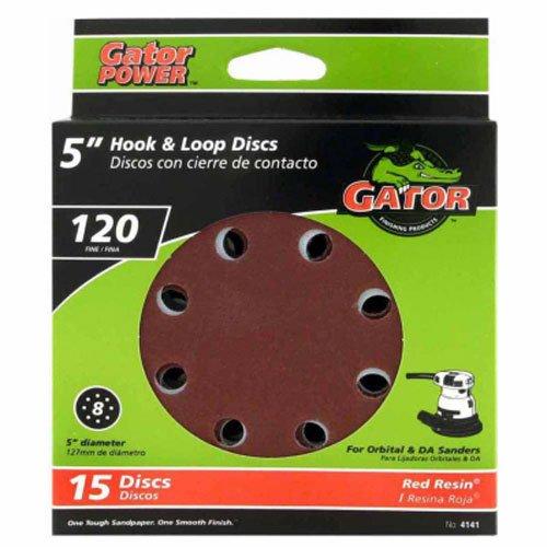 ali industries 4140-003 Master Mechanic 15 Pack 5 -Inch 220 Grit 8 Hole Hook and Loop Sanding Disc