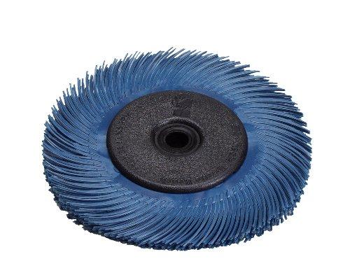 Scotch-BriteTM Radial Bristle Disc Thin Bristle Ceramic 20000 rpm 3 Diameter 400 Grit Blue Pack of 40