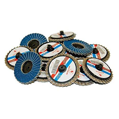 AES Industries 7722-40 2 Blue Zirconia Rolok Flap Discs 40 Grit Extra Coarse 12 Pack