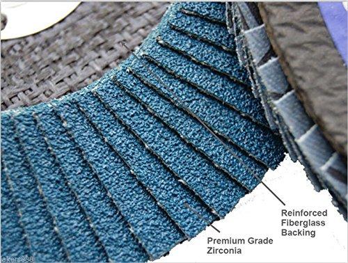 MTP Pack of 15 Assorted Grits 406080 45 x 78 Zirconia Flap Disc Grinding Sanding Wheels T29 60 40 80