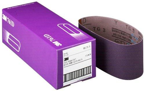 3M 81411 3 x 24 60 Grit Purple Cloth Sanding Belts 761D - 5 Belts per Package