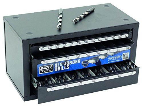 Champion Cutting Tool D1-XL5-LTD Brute Platinum Drill Bit Dispenser Includes 125 Jobber Heavy Duty Drill Bits D1-XL5-LTD Black