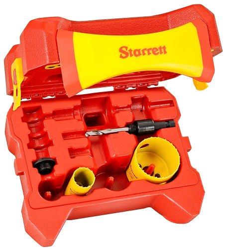 Starrett KS02021-N 4-Piece Bimetal Locksmith Hole Saw Kit