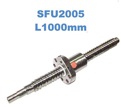 GOWE 20mm Rolled Ball lead screw SFU2005 Ball screw L1000mm-Ballscrewsballnutends machining for CNC machine