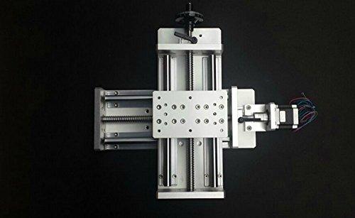 GOWE Electric slider cnc linear rail slider 1605 ball screw Nema23 stepper motorlinear guidertravel 300mm normal load