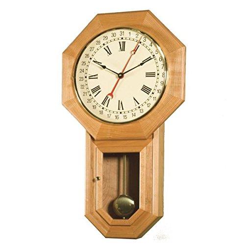 Woodworking Project Paper Plan to Build Schoolhouse Regulator Clock