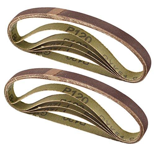 Belt Power Finger File Sander Abrasive Sanding Belts 330mm x 10mm 120 Grit 10 PK