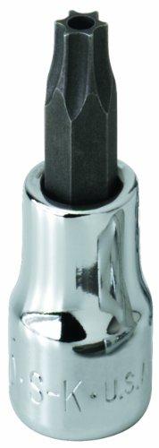 SK Hand Tool 45445 Tamper Proof Torx T45 Drive Bit Socket 38-Inch Chrome