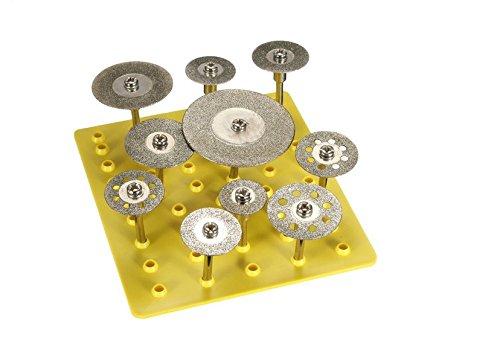 Revesun 10Pcs 18 Diamond Saw Cut Off Discs Wheel Blades Rotary Tool Set Shank for Dremel