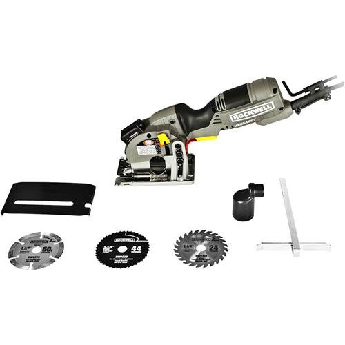 Rockwell Versacut 40 Amp Ultra-Compact Circular Saw with Laser Indicator and 3-Blade Kit with Carry Case - RK3440K