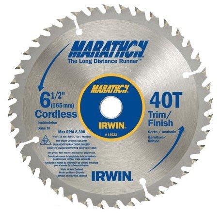 5 Pack Irwin 14023 6-12 x 40 Tooth Marathon Cordless Circular Saw Blades