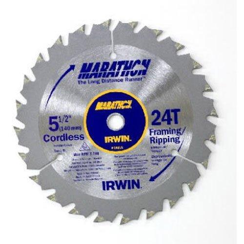 IRWIN Tools MARATHON Carbide Cordless Circular Saw Blade 5 12-Inch 18T Carded 14011