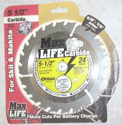 Max Life 550C424 5 12 x 24 Tooth Cordless Circular Saw Blade Carbide