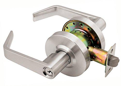 Dynasty Hardware AUG-00-26D Grade 2 Commercial Duty Office Door Keyed Lever Lockset ADA Satin Chrome Finish