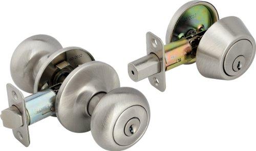 Legend 809136 Legend Decorative Knob Combination Entry And Deadbolt Lockset Satin Nickel