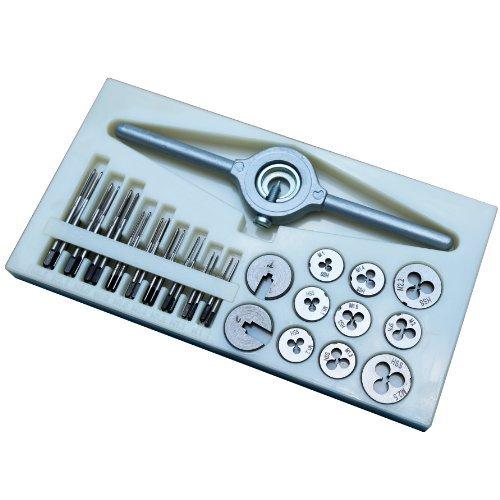 Agile-shop 31 PCS Mini HSS Tap and Die Set M1 M11 M12 M14 M16 M18 M2 M22 M25