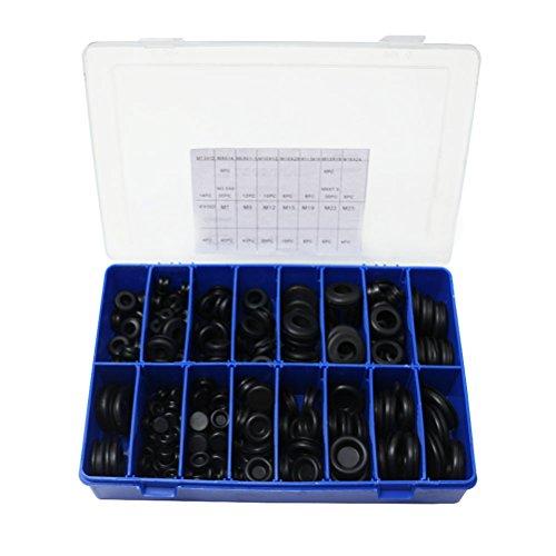Rubber Grommet Assortment Electric Wire Gasket Kit 16 Size 250 Pcs