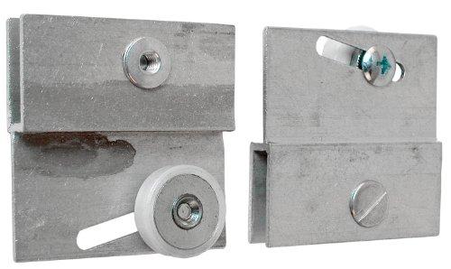 Prime-Line Products M 6054 Frameless Sliding Shower Door Top Bracket 34 in Flat Plastic Wheel Steel Ball Bearings