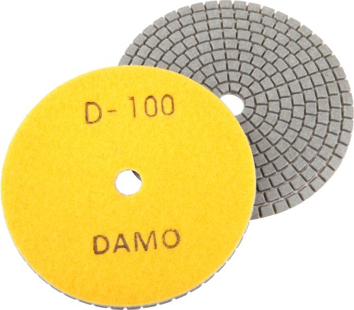 4 DAMO Dry Diamond Polishing Pad Grit 100 for Granite PolishConcrete Polisher Countertop