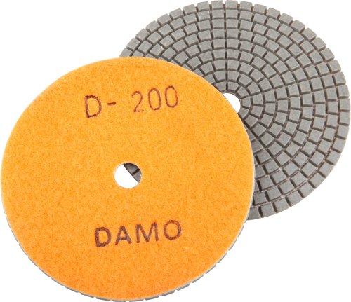 4 DAMO Dry Diamond Polishing Pad Grit 200 for Granite PolishConcrete Polisher Countertop