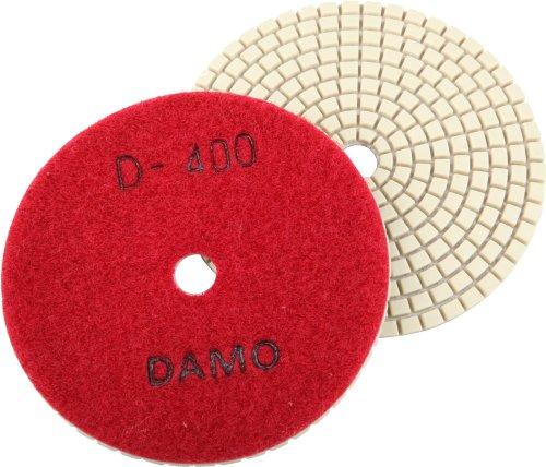 4 DAMO Dry Diamond Polishing Pad Grit 400 for Granite PolishConcrete Polisher Countertop