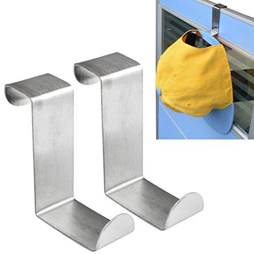 8pcs Over the Door Hooks Jmkcoz Stainless Steel Cabinet Clothes Coat Hat Hanger Holder