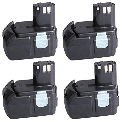 "4 Pack SANCCâ""¢ 18V 4000Mah Lithium-Ion HXP Battery Pack for Hitachi BCL1815 EBM1830"