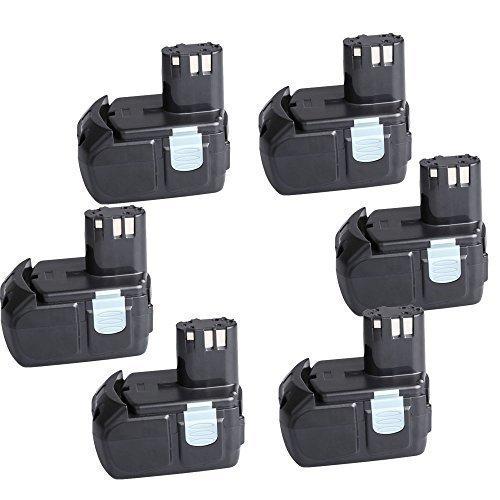 "6 Packs CREJOYâ""¢ 18-Volt Lithium-Ion 4000mAh HXP Battery for Hitachi BCL1815 EBM1830"
