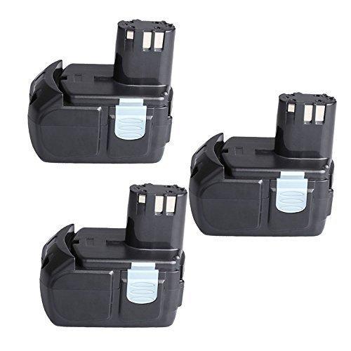 "Hitachi EBM1830 Battery 3 Packs CREJOYâ""¢ 18v 40 AH  4000mAh Li-ion Battery for Hitachi BCL1815 EBM1830"