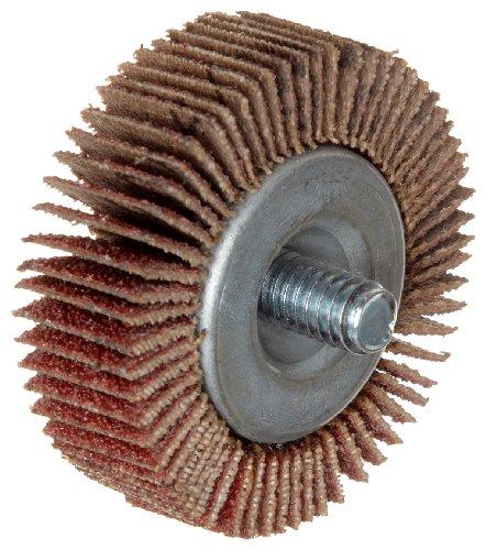 Merit Super Finish Quick-Change Mini Grind-O-Flex Abrasive Flap Wheel Threaded Shank Ceramic Aluminum Oxide 1 Dia 58 Face Width Grit 60 30000 Max RPM Pack of 10