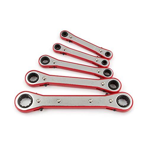 TEKTON 2210 Ratchet Box End Wrench Set Metric 5-Piece Older Model