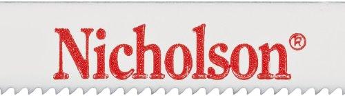 Nicholson Bi-Metaloy Hand Hacksaw Blade Raker 12 Length 12 Width 0025 Gauge 14 Teeth Per Teeth Per Inch Standard Pack Pack of 100