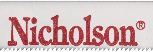 Nicholson Bi-Metaloy Hand Hacksaw Blade Wavy 12 Length 12 Width 0025 Gauge 24 Teeth Per Teeth Per Inch Standard Pack Pack of 100
