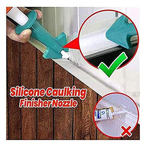 Azcczzii 3Pcs Caulking Tool Kit Silicone Sealant Finishing Tool Silicone Sealant Caulk Nozzle Silicone Caulking Finisher Grout Scraper Tool for Kitchen Bathroom Window Tiles or Bricks Green