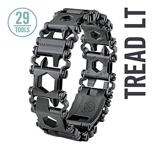 LEATHERMAN - Tread LT Bracelet The Smaller Travel Friendly Wearable Multitool Built in the USA Black