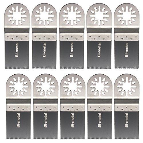 BABAN 1-38 Bi-Metal Universal Oscillating Multitool Saw Blade Set Pack of 10